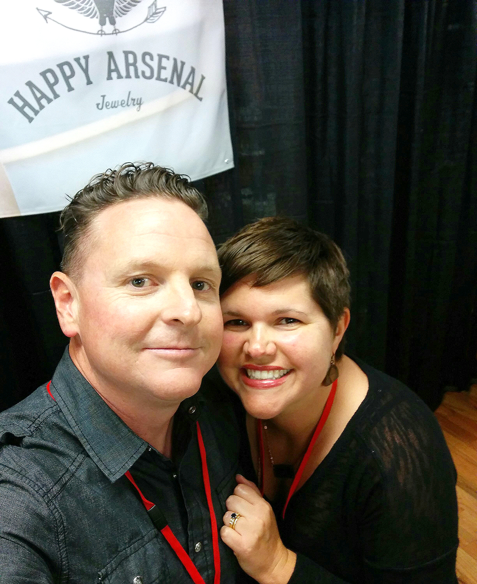 Me and my amazing wife at one of our events.