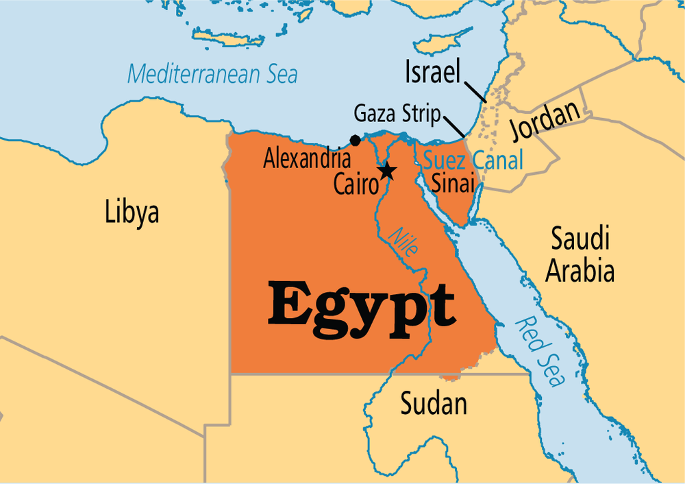 Egypt Around The World In Bites - Map of egypt libya and sudan