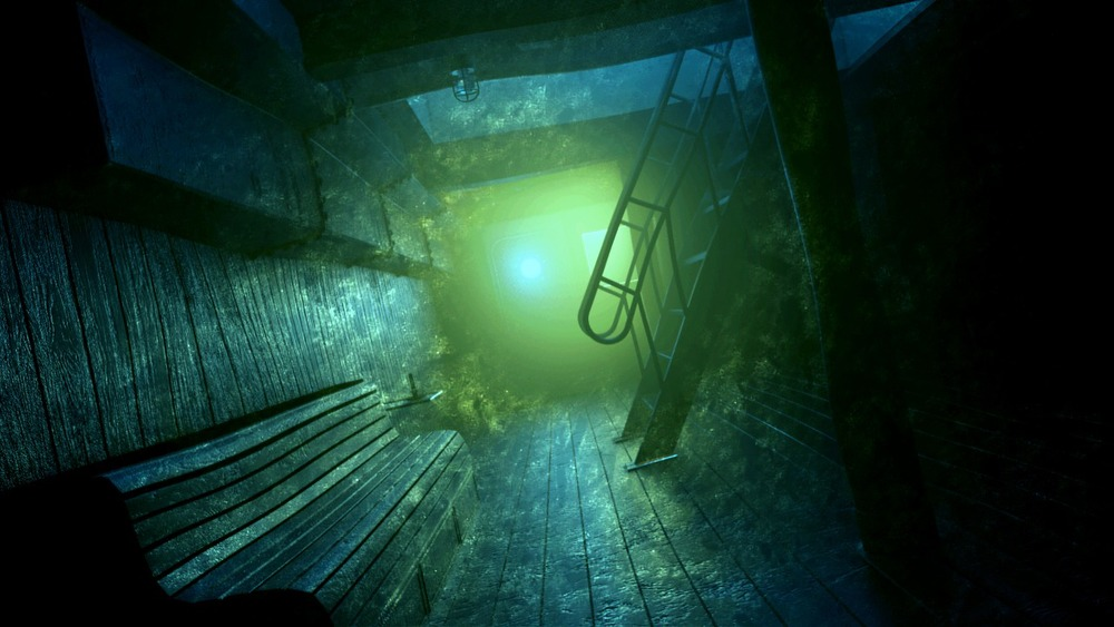 Underwater searchlight, rendered in Mental Ray. HDR Post in Photoshop.
