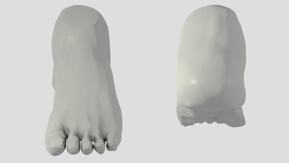 2 hour male foot study from life.