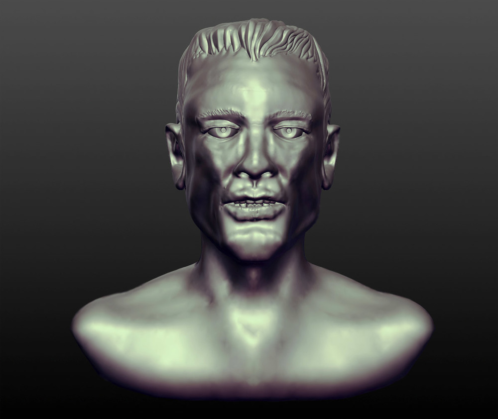 Male head. 4 hour sculpt from imagination.