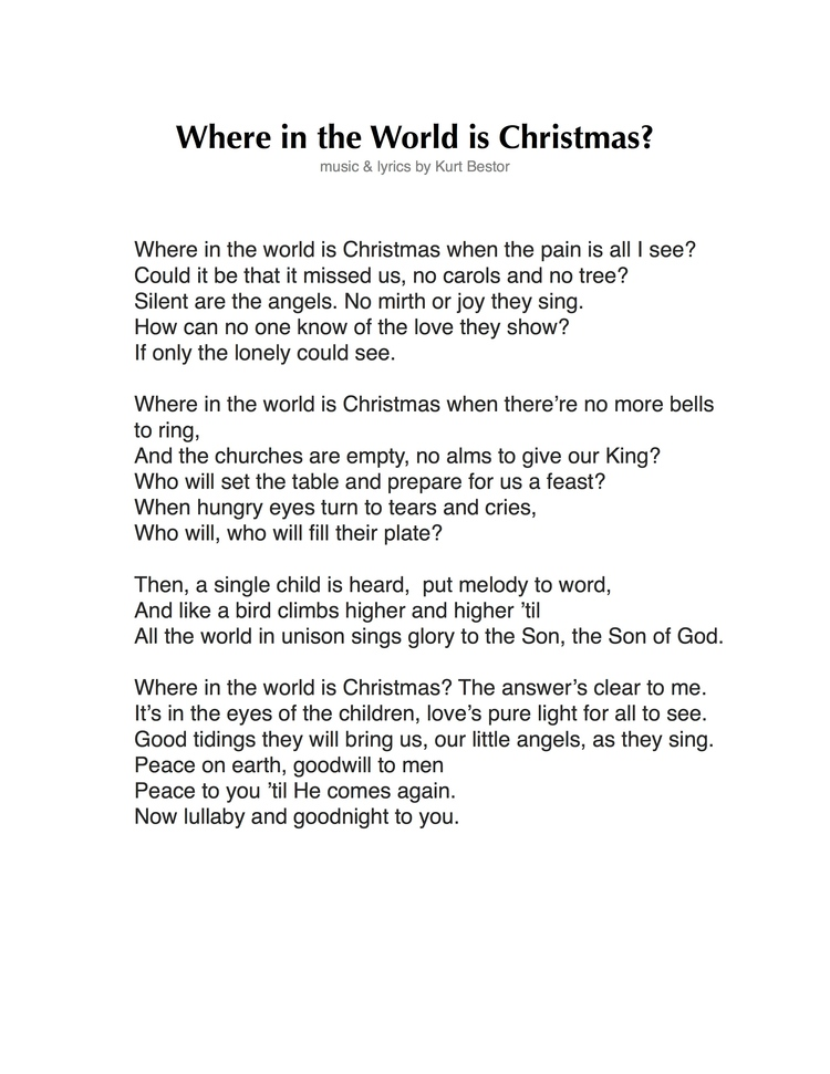 Where in the World is Christmas? — Kurt Bestor