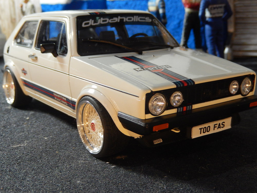 Mk1 Vw Golf Gti Gloss White By Welly Umbau1 18 Total One
