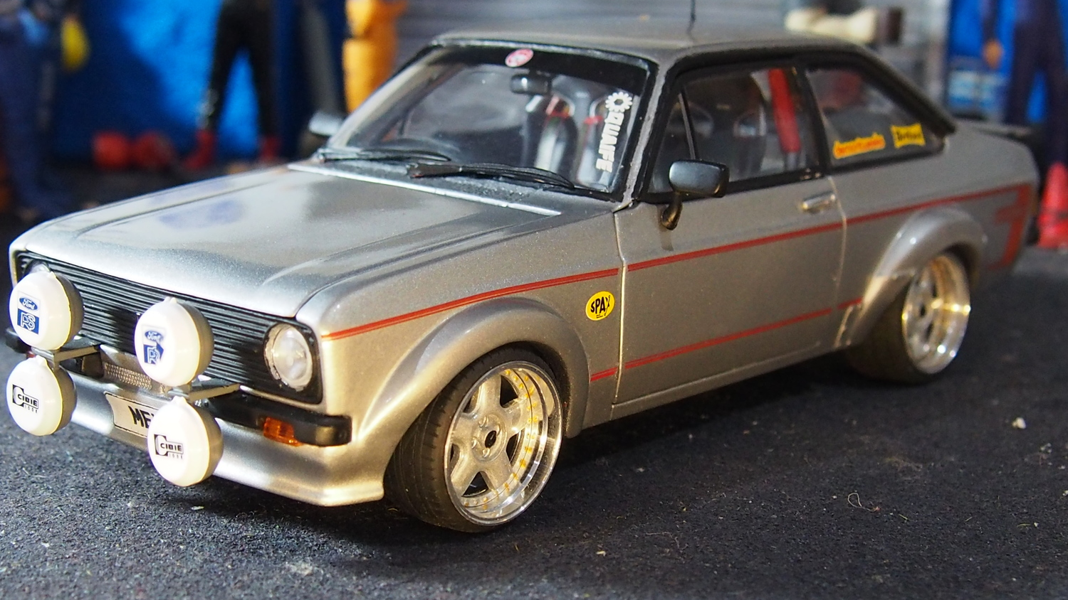 dcf52e23a MK2 ford escort RS1800 mexico modified tuning 1:18 scale by sunstar ...