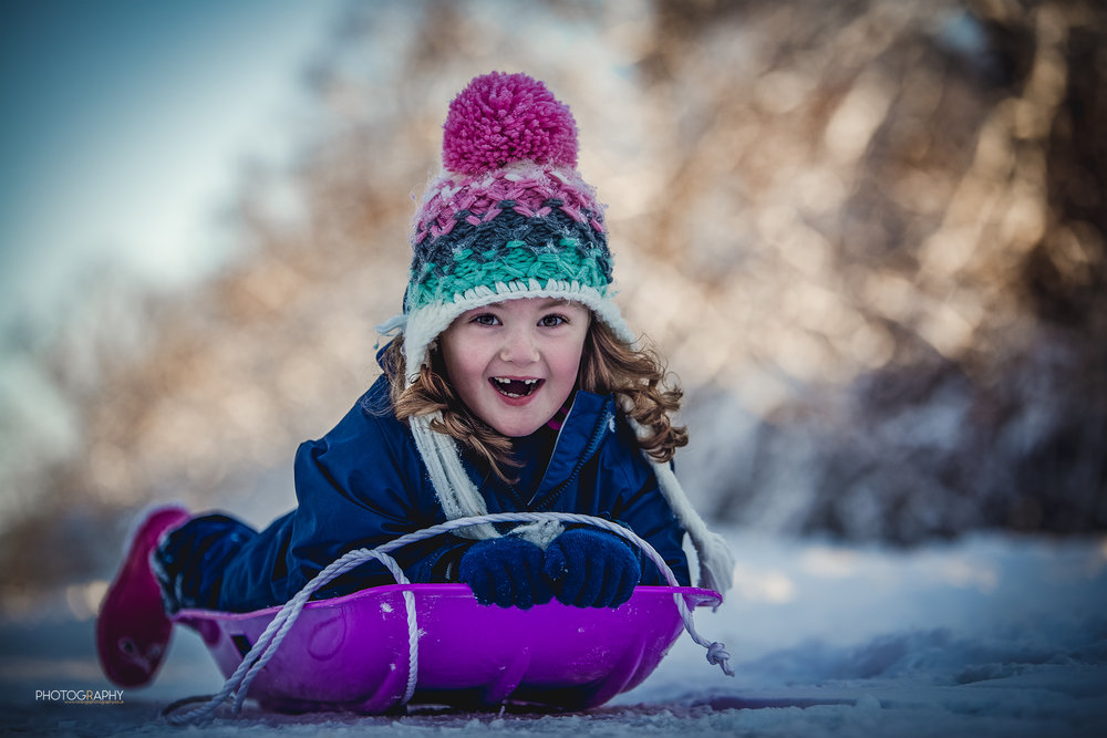 Snow Sledge | R Orange Photography | Apley Woods