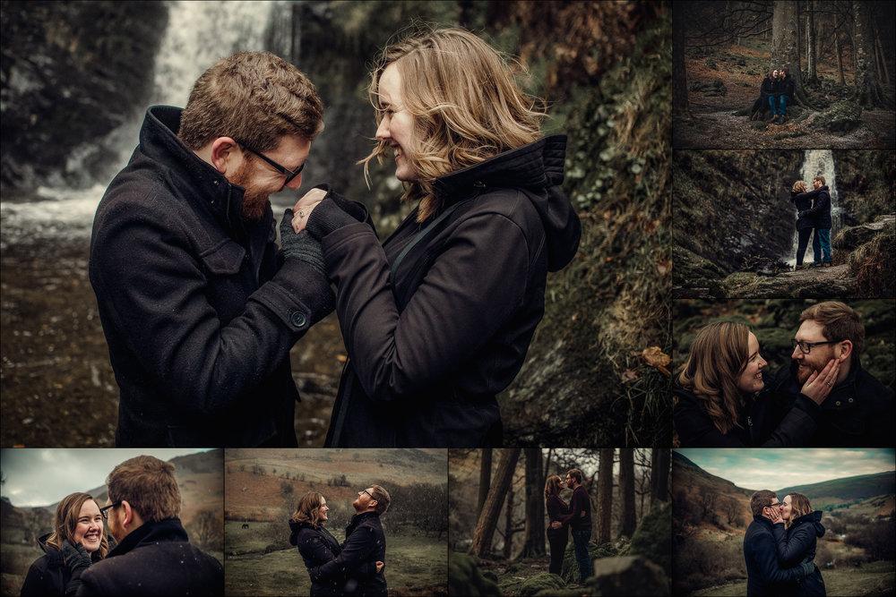 R Orange Photography | Shropshire Wedding Photographer | Gemma and Dan Pistyll Rhaeadr