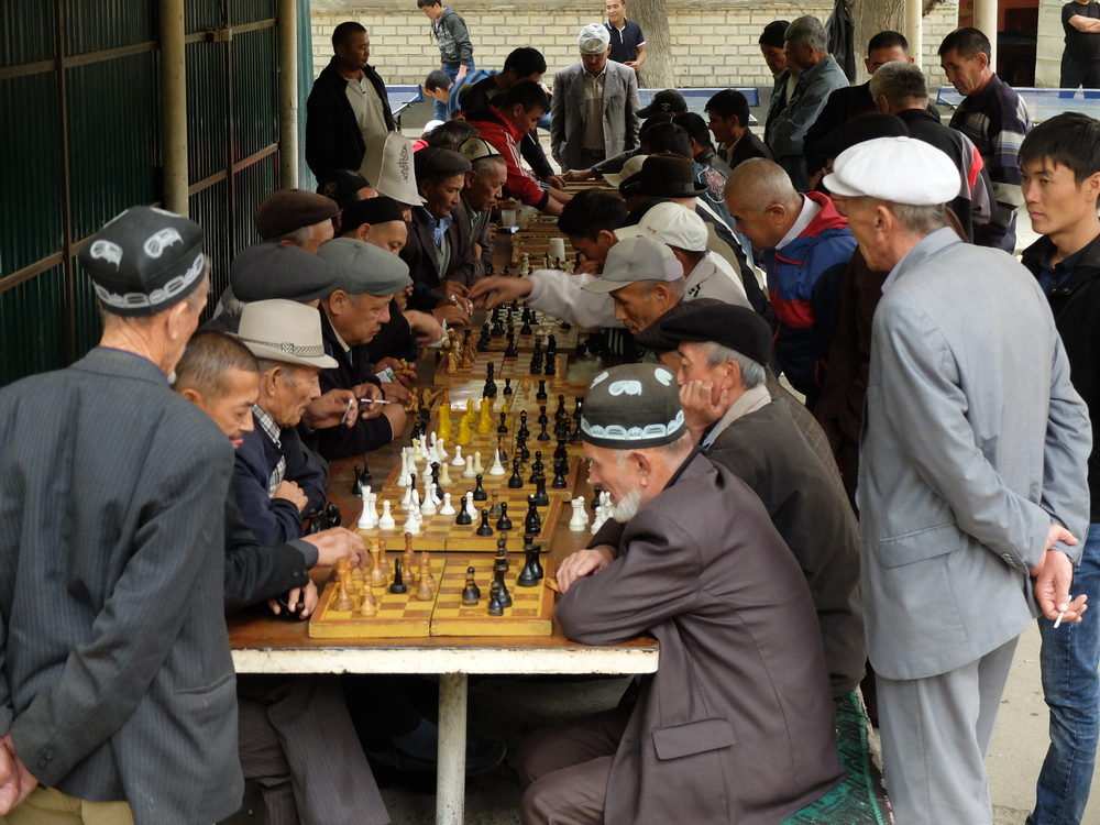 Chess players in Osh