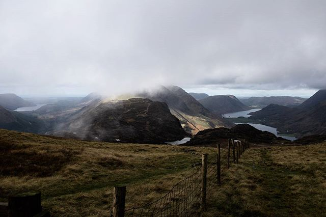 Low cloud over the western lakes.  #thelakedistrict #cumbria #yomping #ennerdale #buttermere