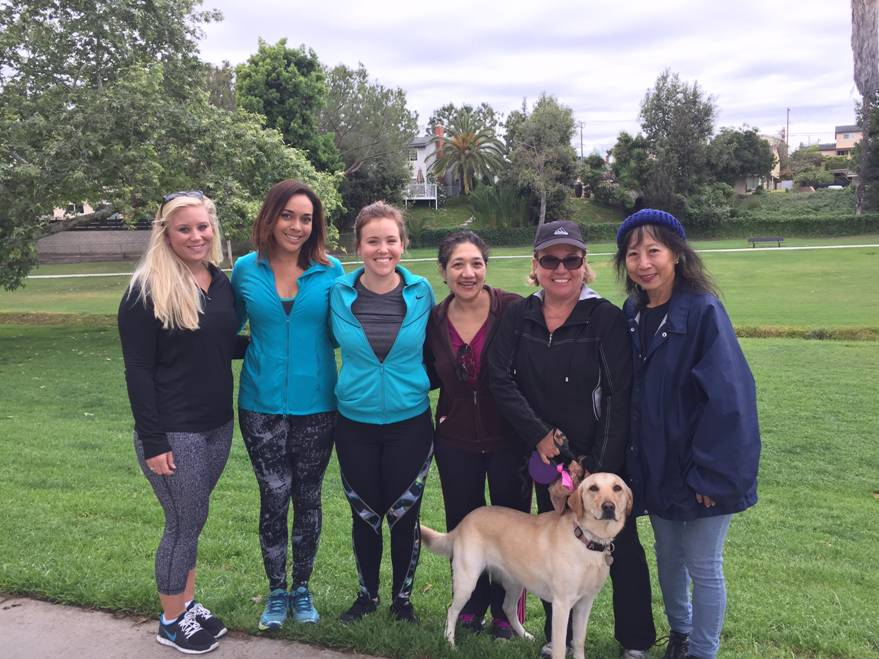 These women braved the rain for April's Walk with the Doc!