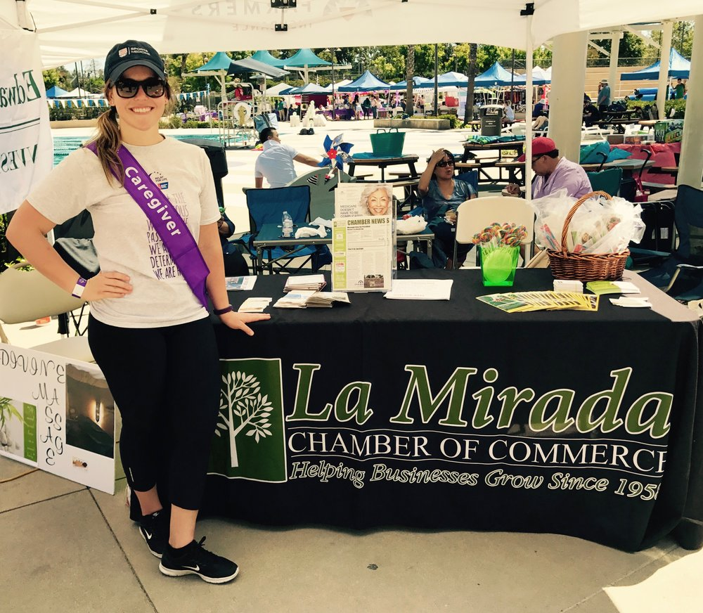 Relay for Life:  Dr. Andrea representing Healthways Chiropractic and the La Mirada Chamber of Commerce at Relay for Life