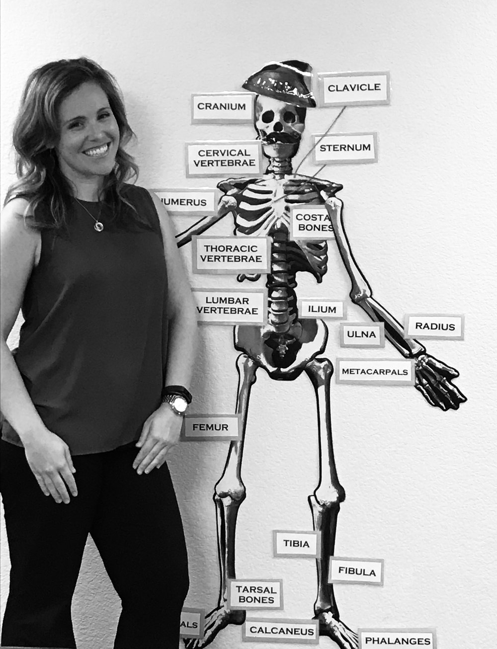 "Hanging out with ""Captain Jack Marrow"" while learning about the human body during October's fun in-office game!"
