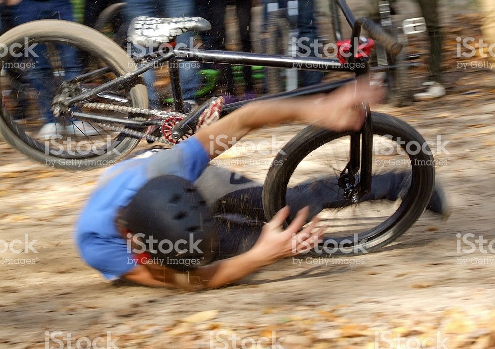 BMX bike crash needs BMX pads