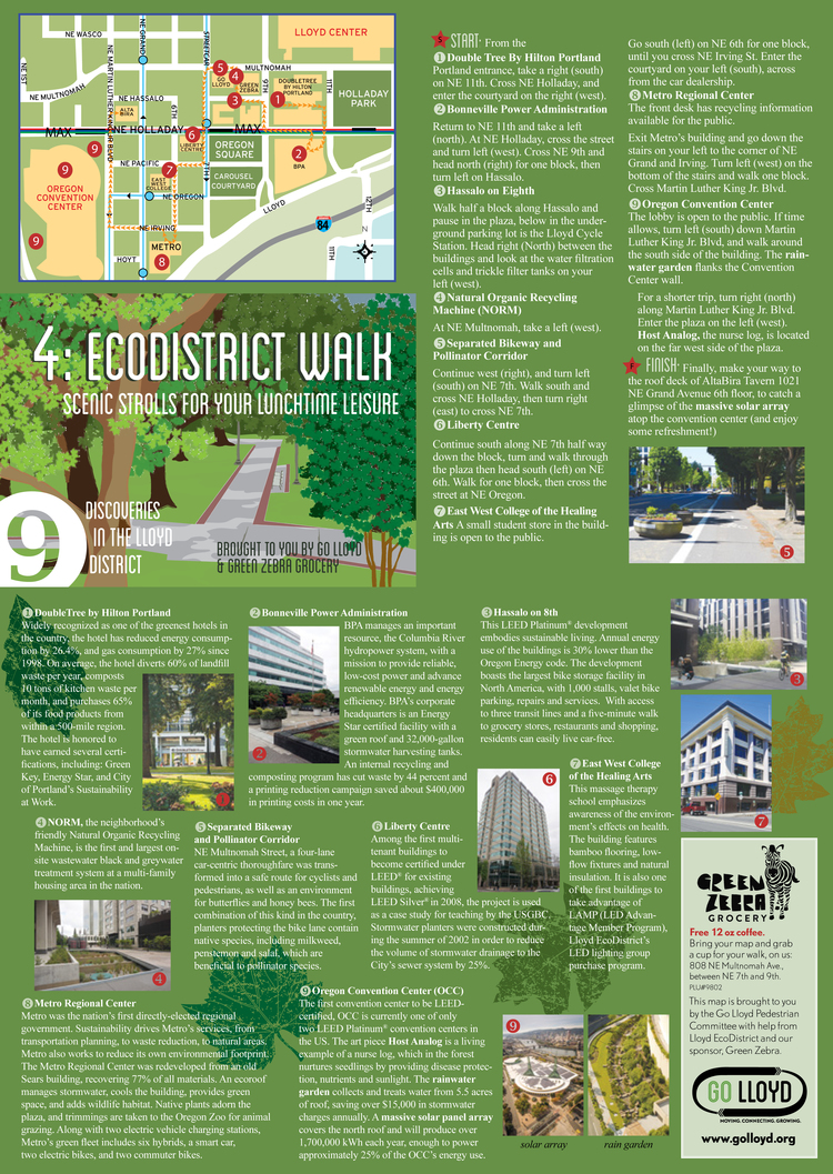 EcoDistrict Walk Map