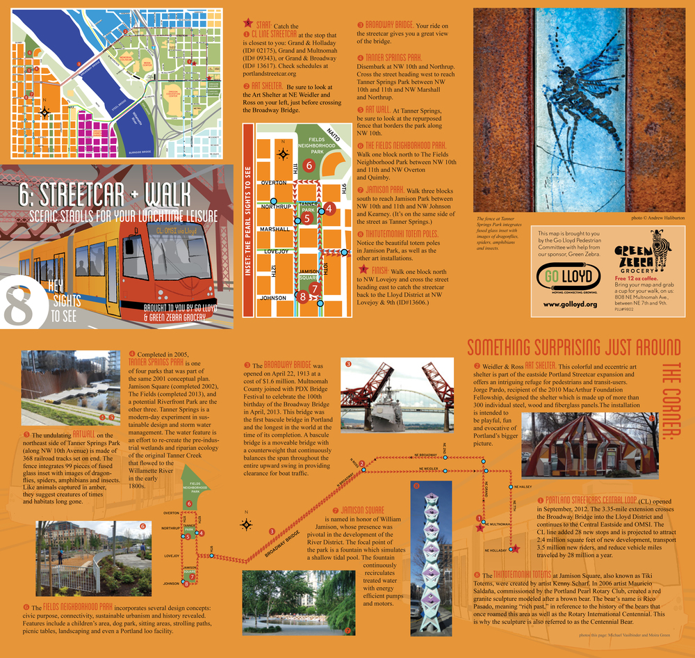 Streetcar + Walk Map