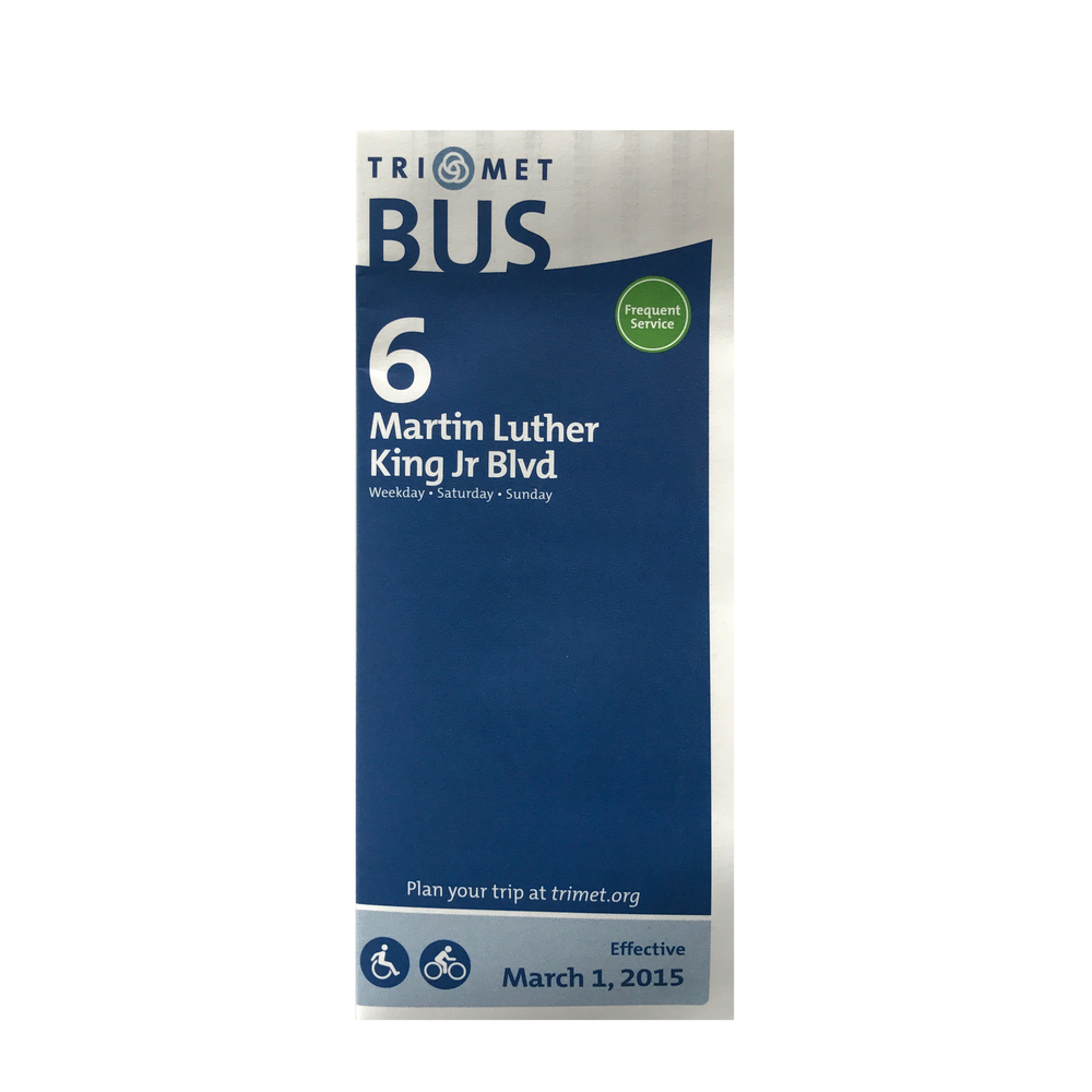TriMet Bus Line 6 Schedule