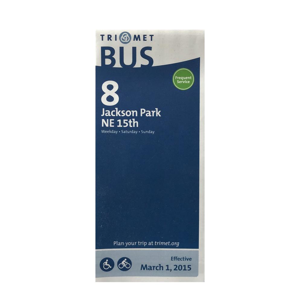 TriMet Bus Line 8 Schedule