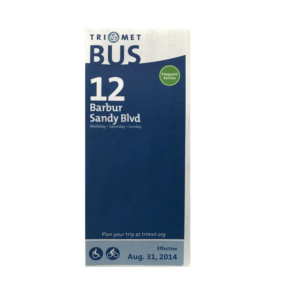 TriMet Bus Line 12 Schedule