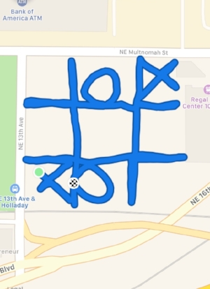 "Entry # 1 ""Tic Tac Toe"" Running/Walking"