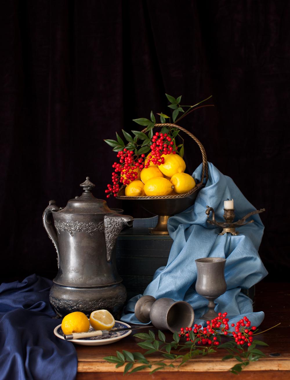 Lemons & Red Berries Still Life 2013
