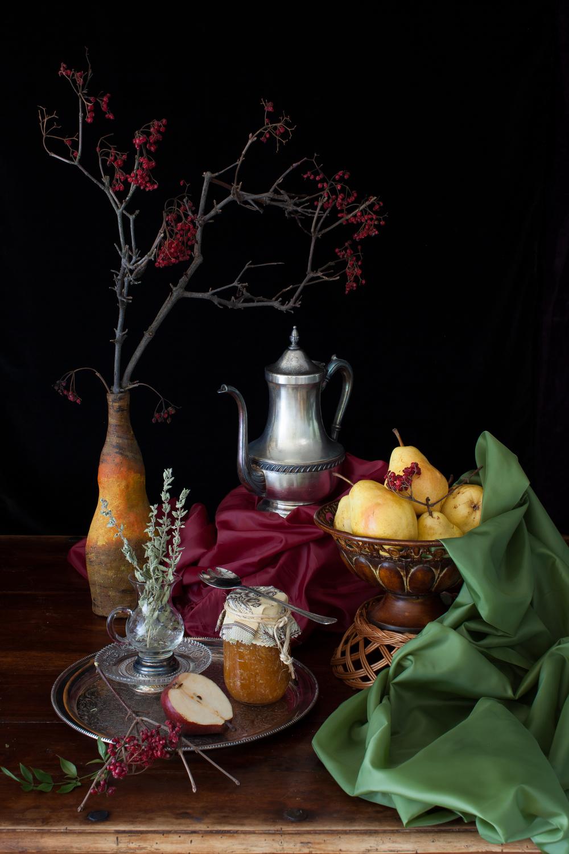 Pears & Pear Jam Still Life 2013