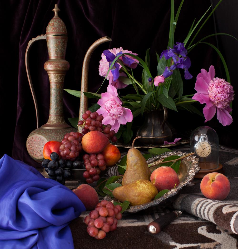 Still Life with Irises & Fruits 2012