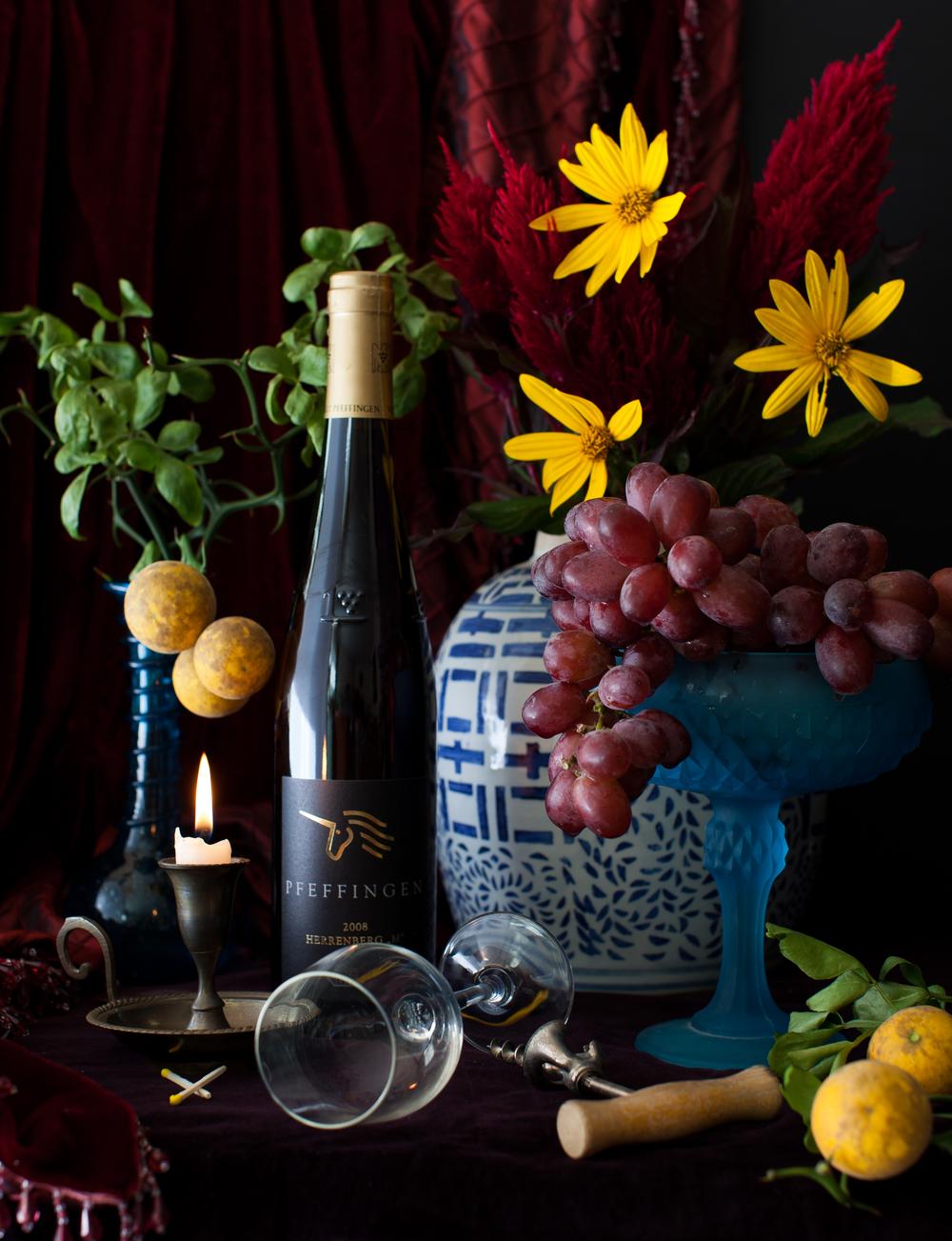 Wine & Grapes Still Life 2014