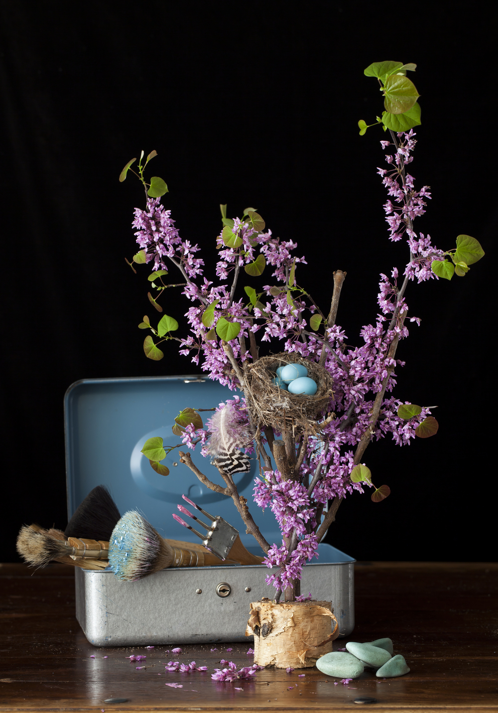 Robin Eggs & Pink Bloom Still Life 2015