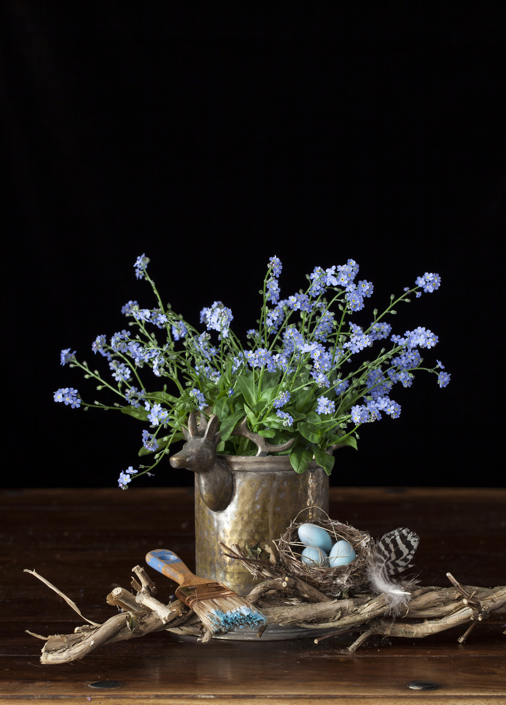 Forget-Me-Not & Robin Eggs Still Life 2015