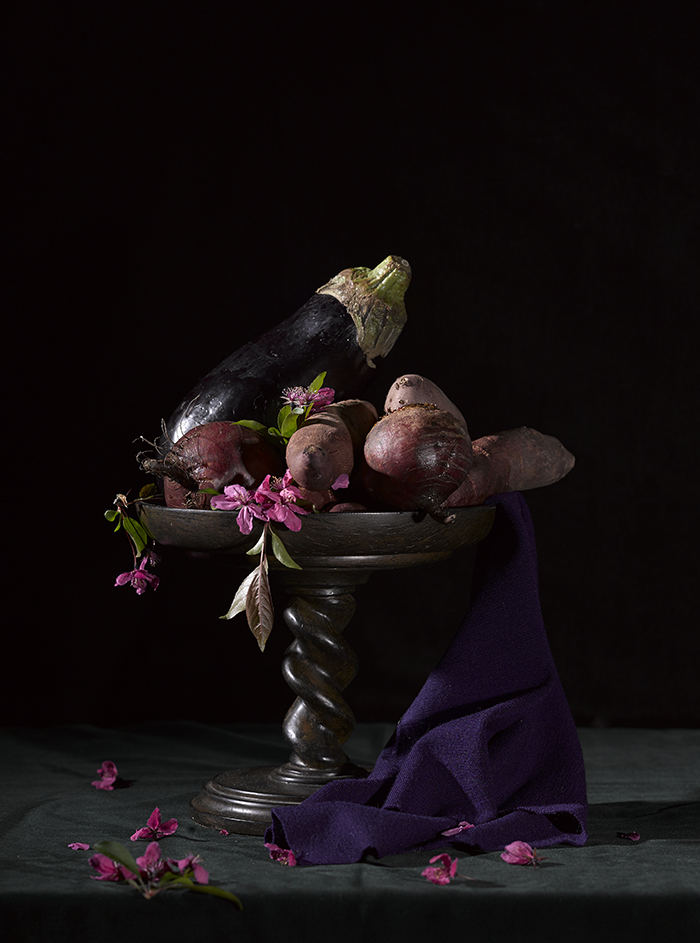 Purple Vegetables Still Life 2015