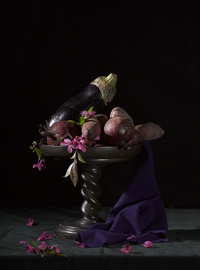 Purple Vegetables Still Life 2015