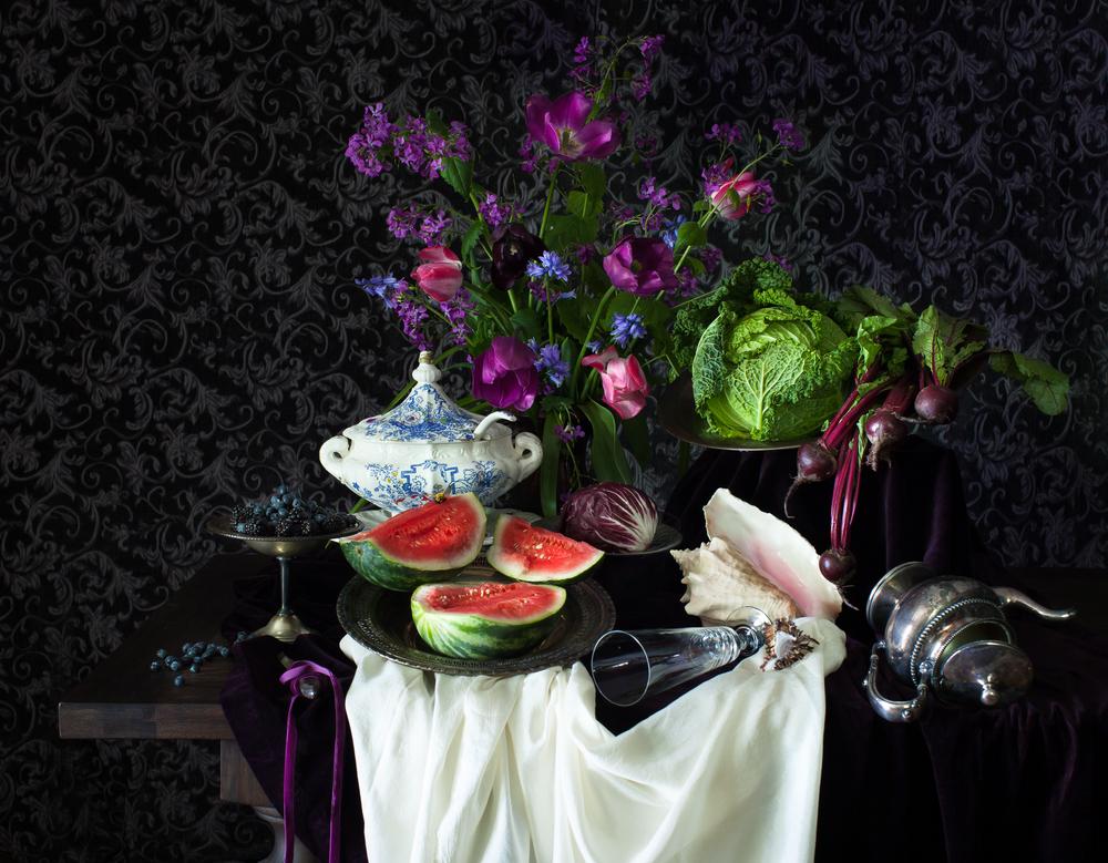 """""""Purple Spring"""" still life"""