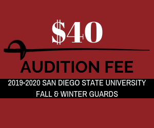 Sdsu Fall 2020 Schedule 2019 2020 SDSU Fall & Winter Guard Audition Fee — SDSU Color Guard