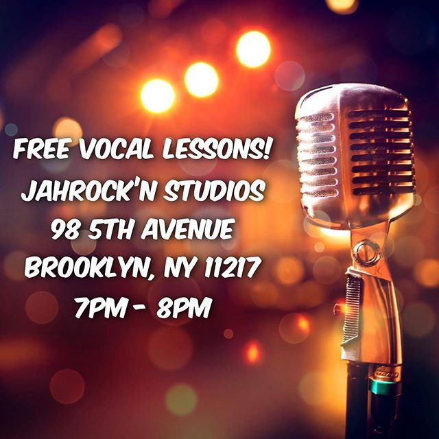 Join us tomorrow!! FREE VOCAL LESSONS!! .. #TeamJahrockn