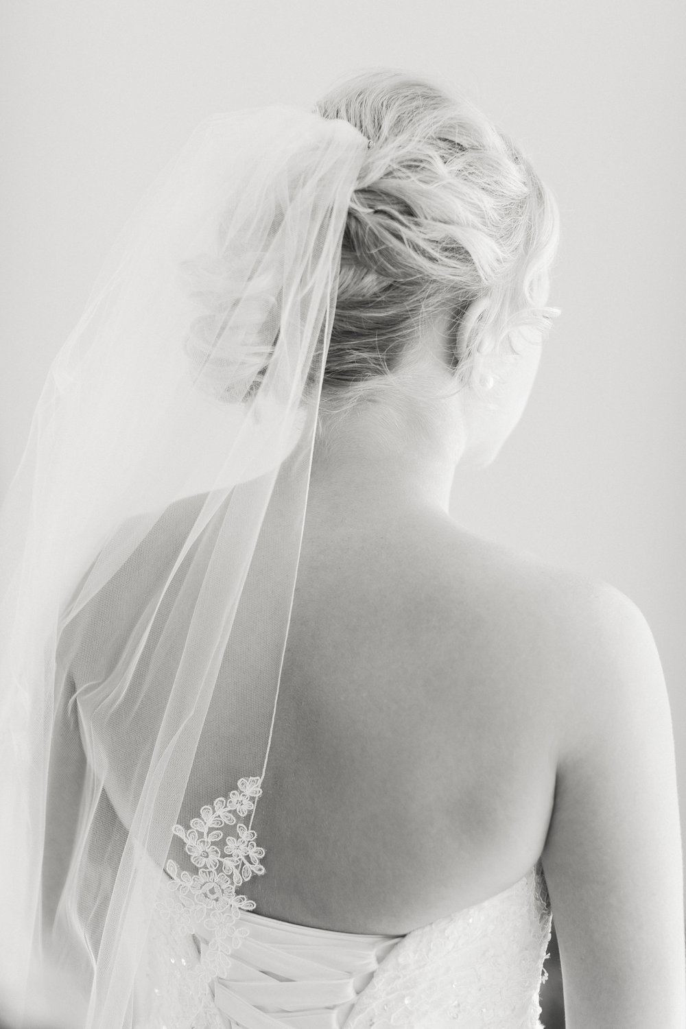 Brandon Sampson Photography. Bridal Veil Portrait. Film Photography.