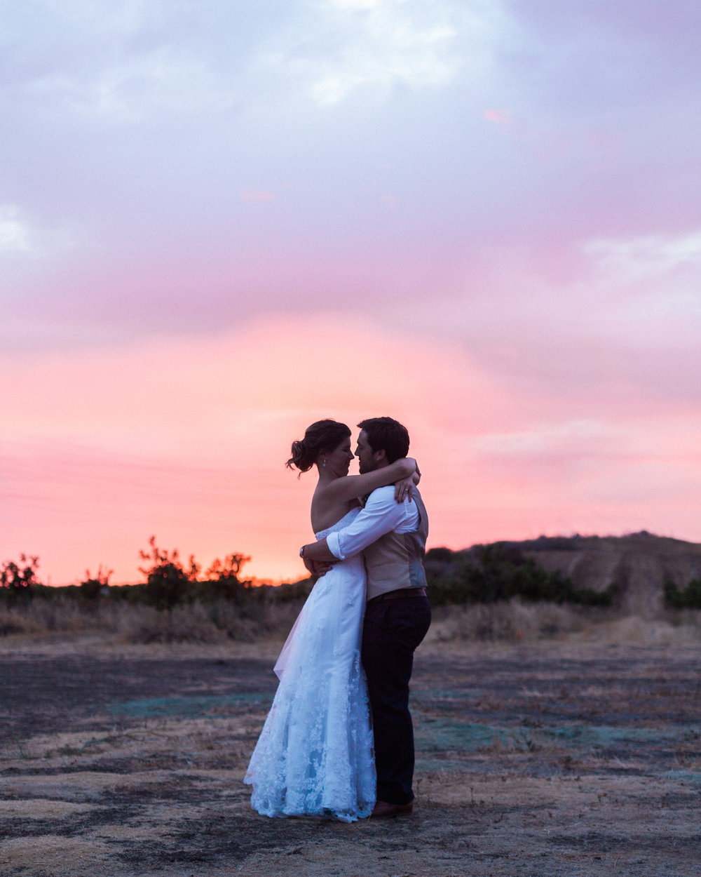 Brandon Sampson Photography. San Luis Obispo Wedding at Sunset. Film Photography.