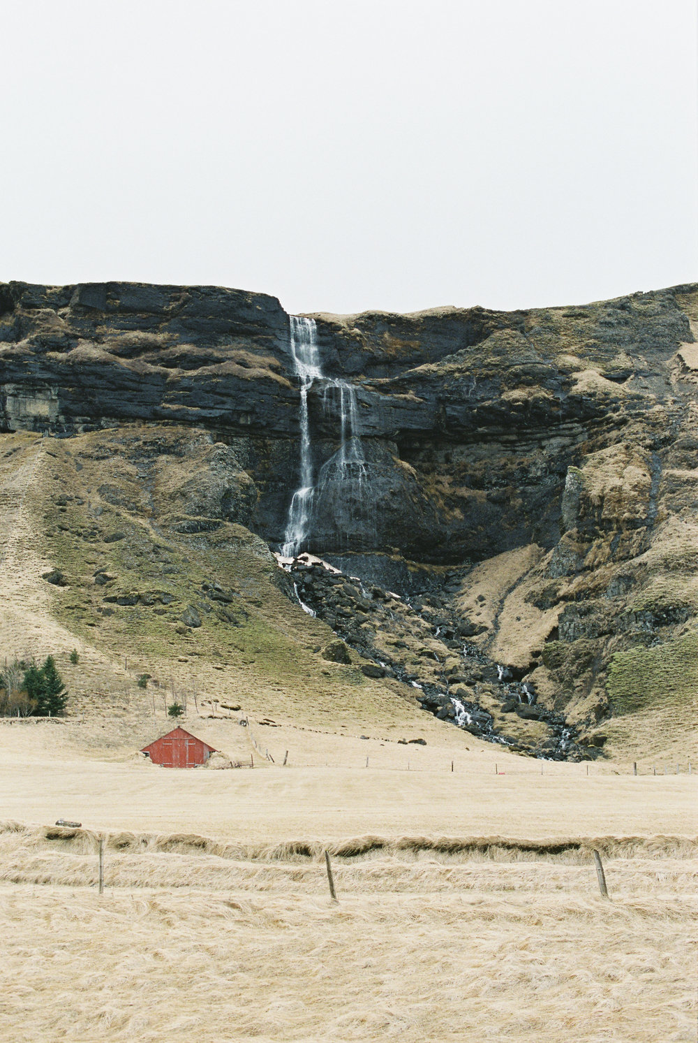 Brandon Sampson Photography. Iceland Waterfall. Film Photography.