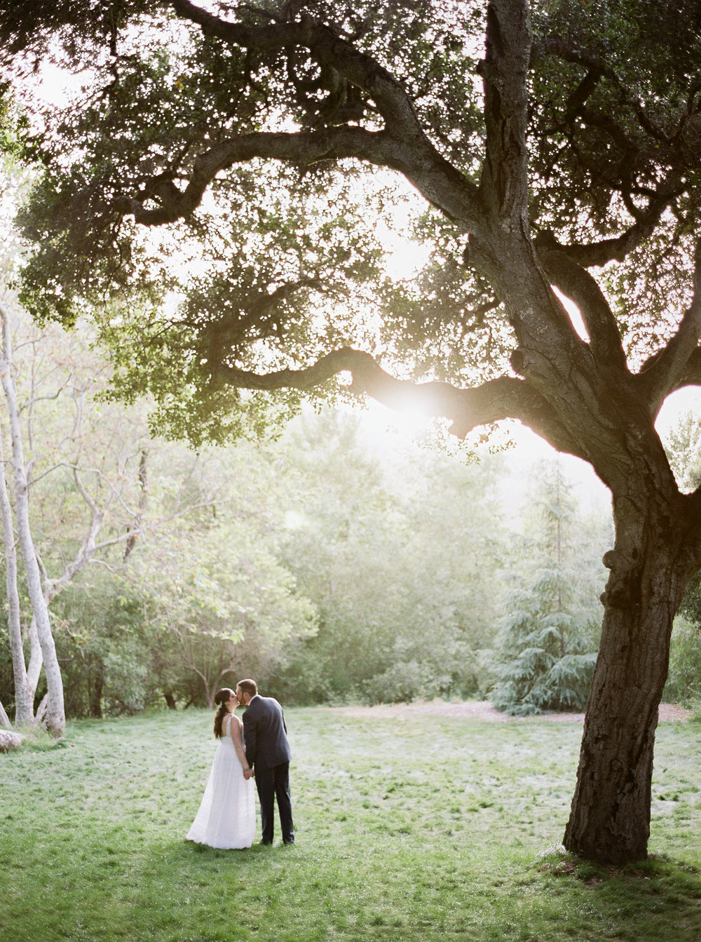Brandon Sampson Photography. Carmel Valley Wedding Portrait. Film Photography.