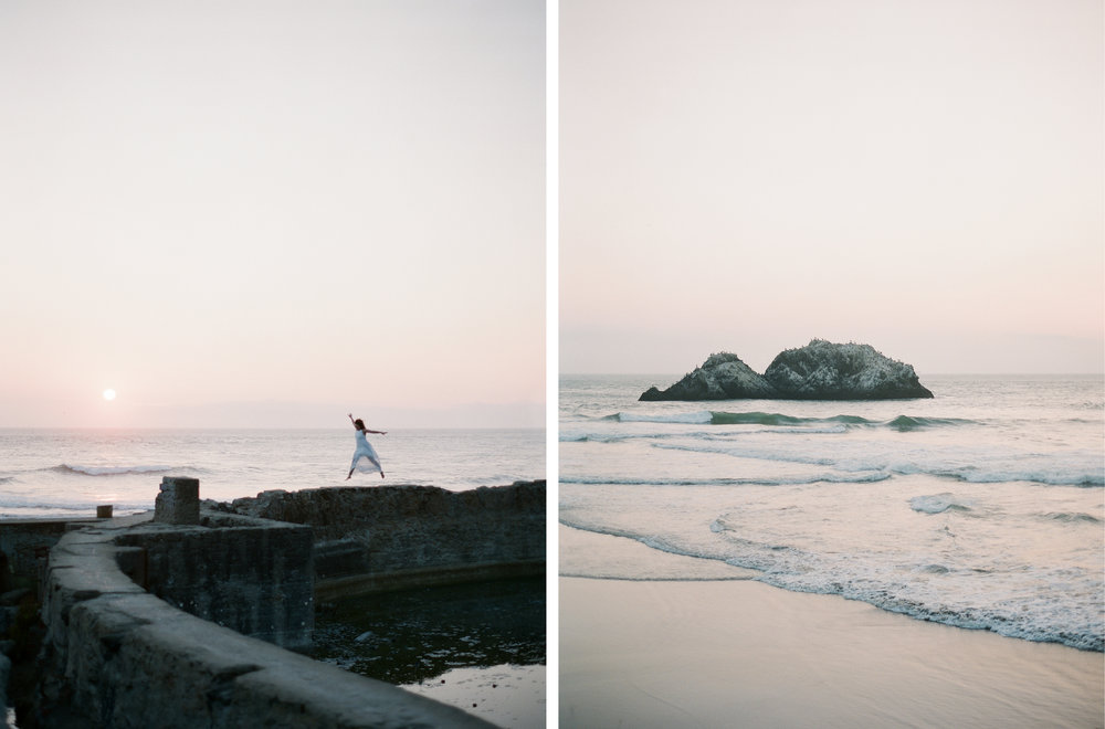 Brandon Sampson Photography. Sutro Baths Portrait. San Francisco, California. Film Photography.