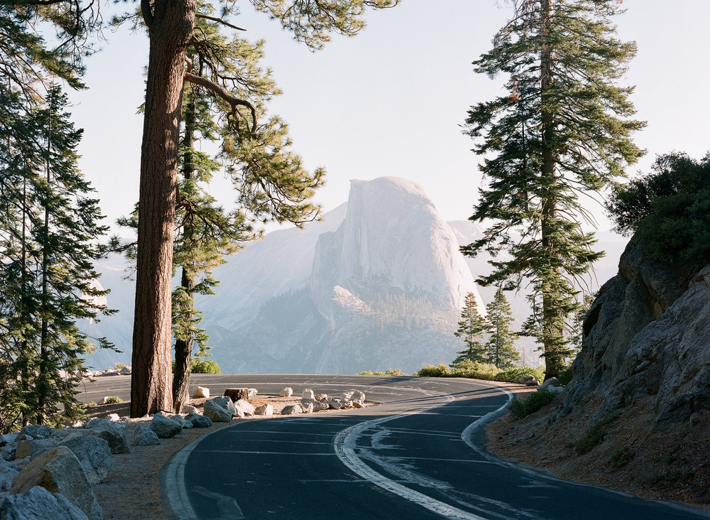 Glacier Point Road & Half Dome At  Sunrise, Smoke