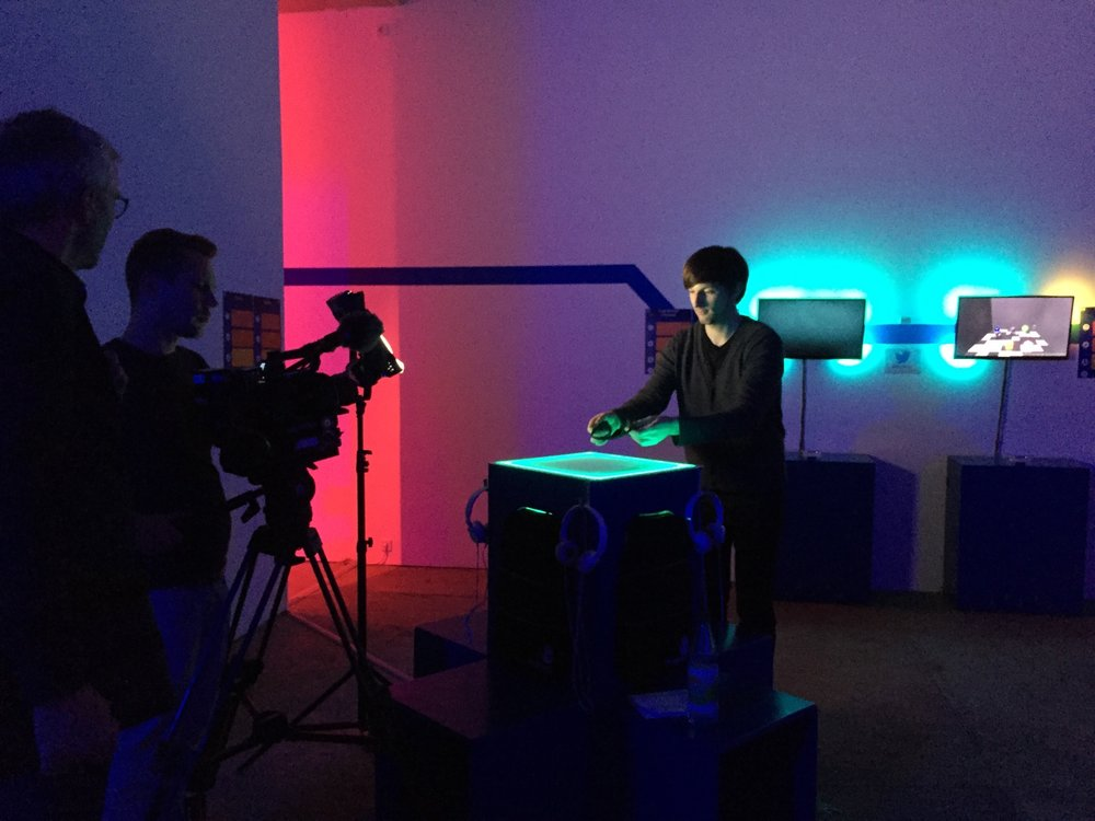 BrainModes APP IS frequently hosted at Game Science Center. Here shooting BrainModes Scientists WITH ARTE TV TEAM.