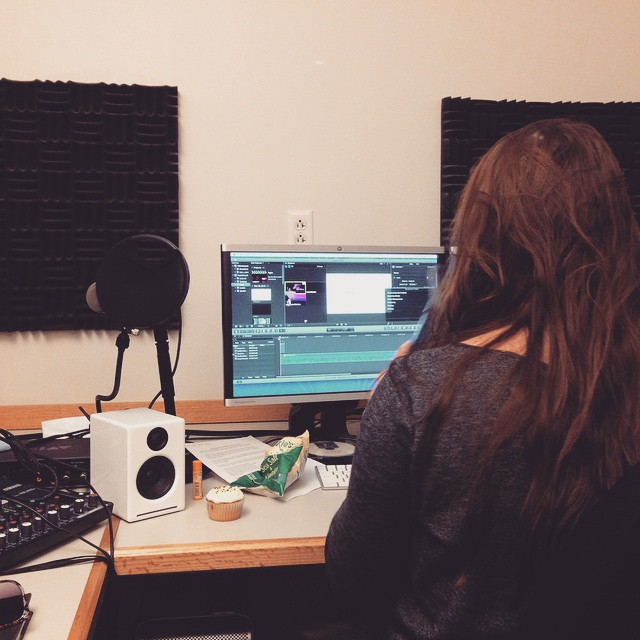 Laurie is working super hard, editing those videos! Keep an eye out for them. #TEDx #TEDxGrinnell #SpeakOut