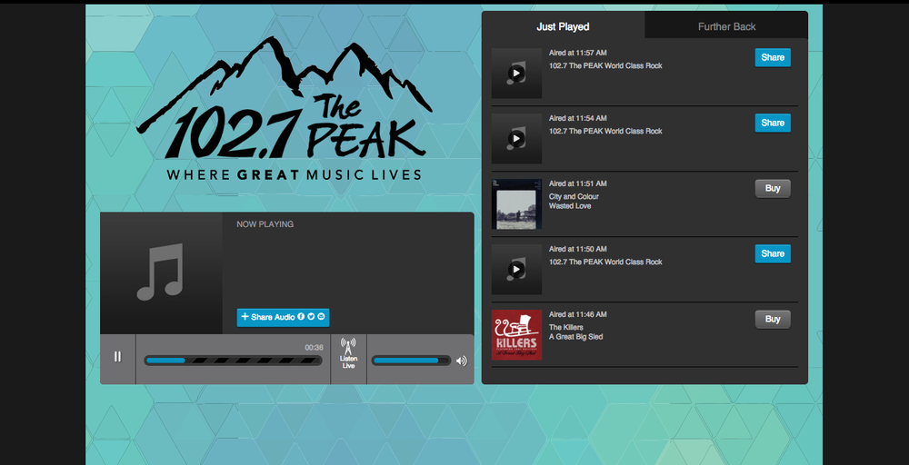 THE PEAK 102.7 (RADIO FEATURE)