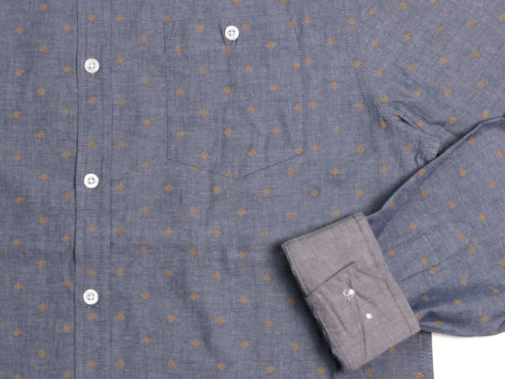 Gleam LS Button Up - Navy