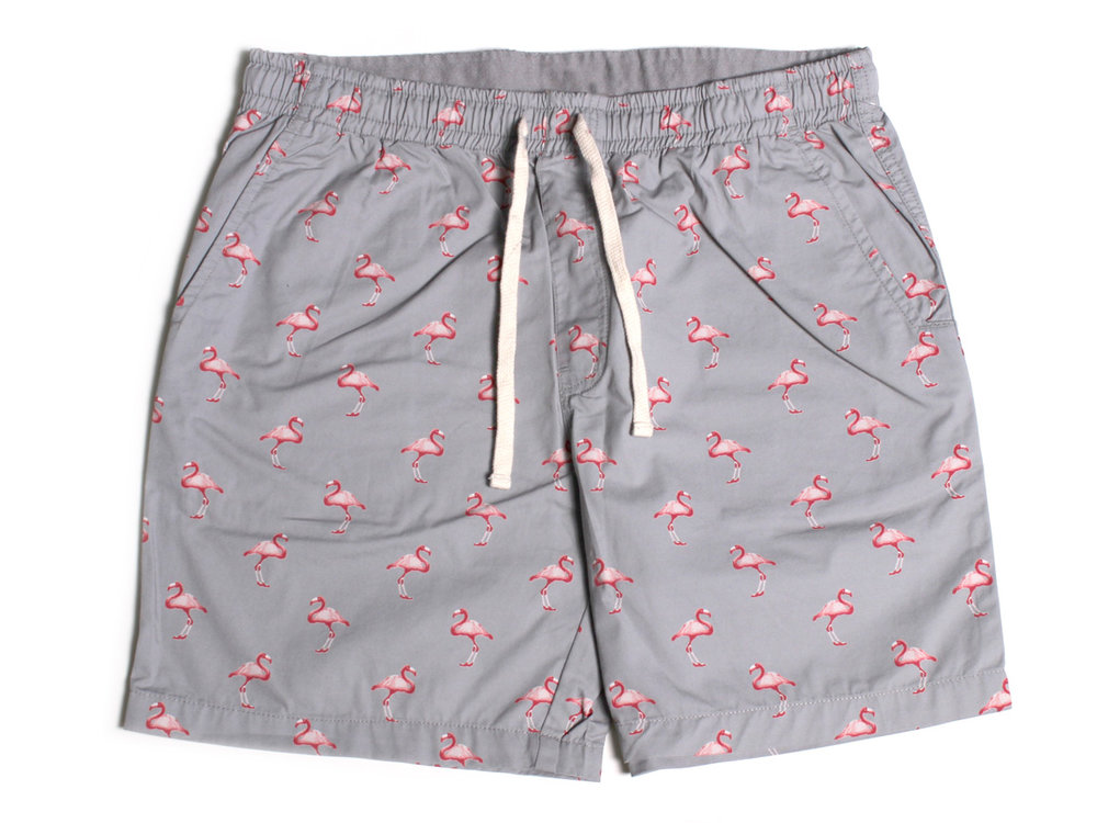 Flamingo Twill Shorts - Grey