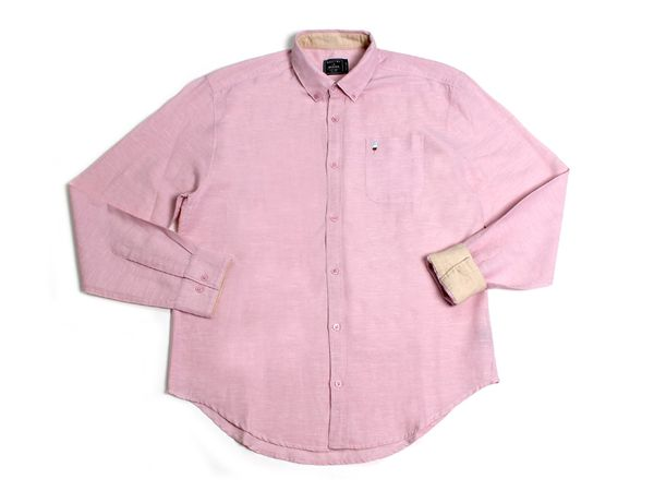 Popsicle Pocket LS Button Up - Barely Pink