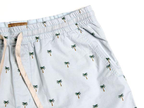 Palms Twill Shorts - Ballad Blue