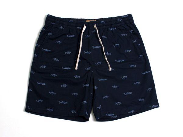 Fish Twill Shorts - Navy