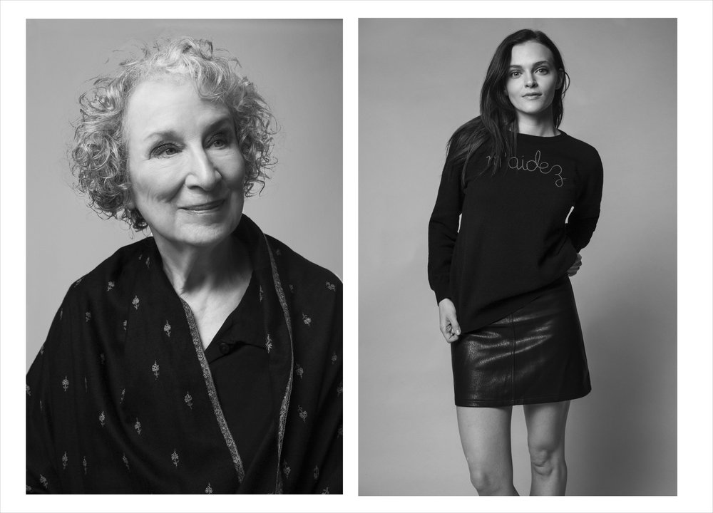 Margaret Atwood & Madeline Brewer / W magazine