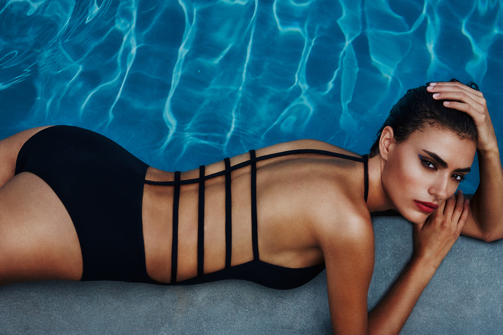 Ingeborg make up artist Chromat Swim