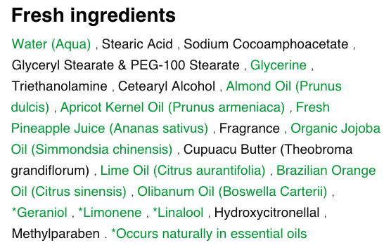 The truth: the majority of these ingredients are not safe. They are fillers  and preservatives that are used solely to extend the product's shelf life.